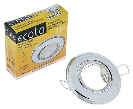 Светильник встраиваемый Ecola, Dh03, Mr16, Gu5.3, выпуклый, поворотный, 25x88 мм, цвет хром  Ecola