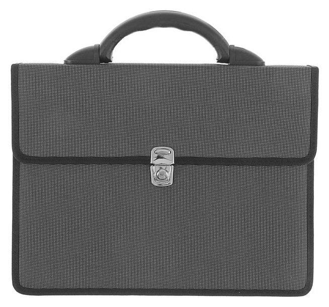 "Портфель деловой ткань 350 х 260 х 100 мм,""Выборг"", серый  Канцбург"