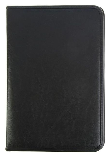 Пaпка деловая, искусственная кожа, 360 х 260 х 30 мм, «Лайт», с металлическим прижимом, чёрная  Канцбург