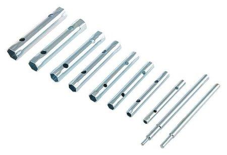 Набор ключей торцевых трубчатых Tundra, оцинкованные, 6 - 22 мм, 2 воротка, 10 предметов  Tundra