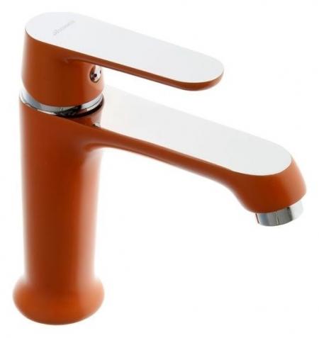 Смеситель для раковины Accoona A9666p, однорычажный, оранжевый  Accoona