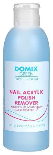 Жидкость для снятия лака с акриловых ногтей Nail acrylic polish remover  Domix Green Professional