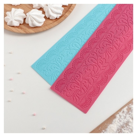 Коврик для айсинга «Ажур», 39×10 см, цвет фиолетовый  Доляна