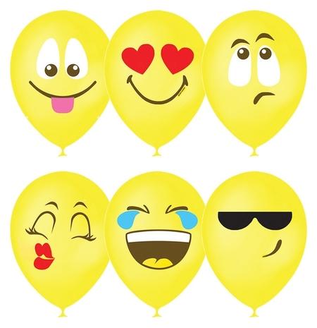 """Шар латексный 12"""" «Эмоции. смайл», пастель, 1-сторонний, набор 25 шт., цвет жёлтый  Latex Occidental"""