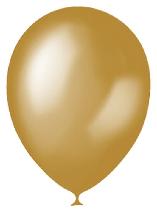 """Шар латексный 12"""", металлик, набор 100 шт., цвет золотой  Latex Occidental"""