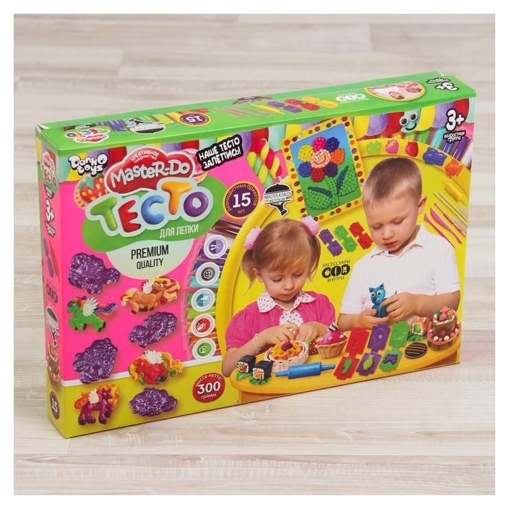 Тесто для лепки Master DO, коробка «260» 15 цв.  Danko toys