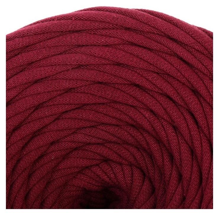 Пряжа трикотажная широкая 50м/170гр, ширина нити 7-9 мм (Бордовый)  Елена и Ко