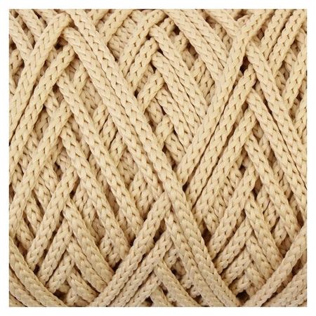 Шнур для вязания без сердечника 100% полиэфир, ширина 3мм 100м/210гр, (155 молочный)  Osttex