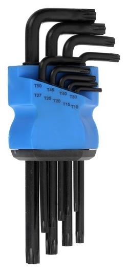 Набор ключей Tundra Black, Torx Tamper, удлиненные, Crv, Tt10 - Tt50, 9 шт.  Tundra