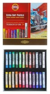 Пастель Toison D`or сухая, мягкая художественная, 24 цвета  Koh-i-noor