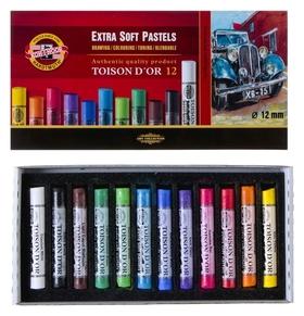 Пастель сухая 12 цветов, Extra Soft Koh-i-noor 8552 Toison D`or, картонная упаковка  Koh-i-noor