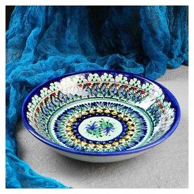 Тарелка глубокая 20см  Риштанская керамика