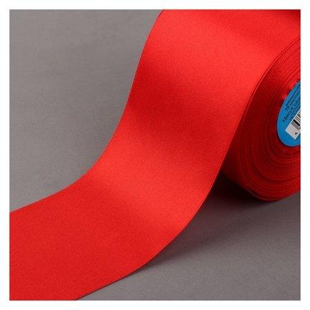 Лента атласная, 75 мм × 33 ± 2 м, цвет красный №026 Gamma