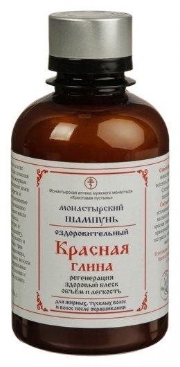 Шампунь для волос безсульфатный монастырский Глина красная  Бизорюк