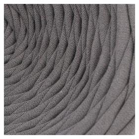 Пряжа трикотажная широкая 100м/330гр, ширина 7-9 мм (Дым) Елена и Ко