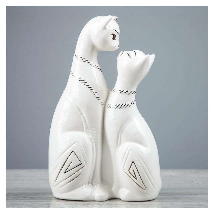 """Копилка """"Египетские коты"""", роспись золотистая, 28 см  Керамика ручной работы"""
