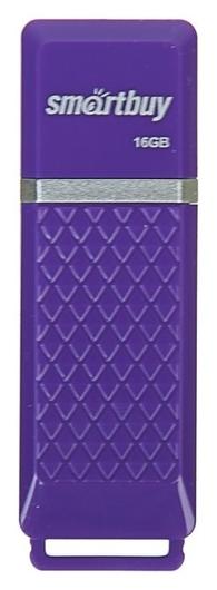 Флешка Smartbuy Quartz, 16 Гб, Usb2.0, чт до 25 мб/с, зап до 15 мб/с, фиолетовая Smartbuy