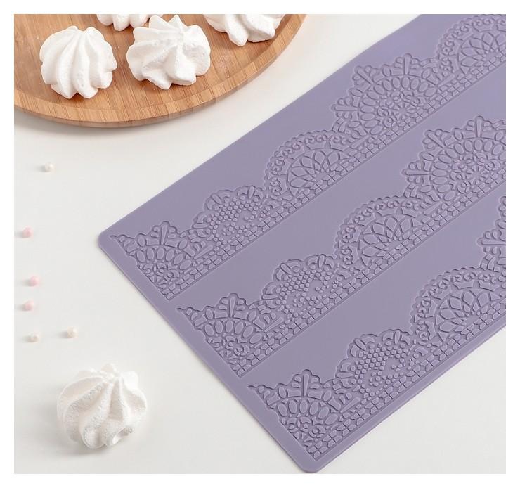 Коврик для айсинга «Волшебство», 3 полосы, цвет фиолетовый  Доляна