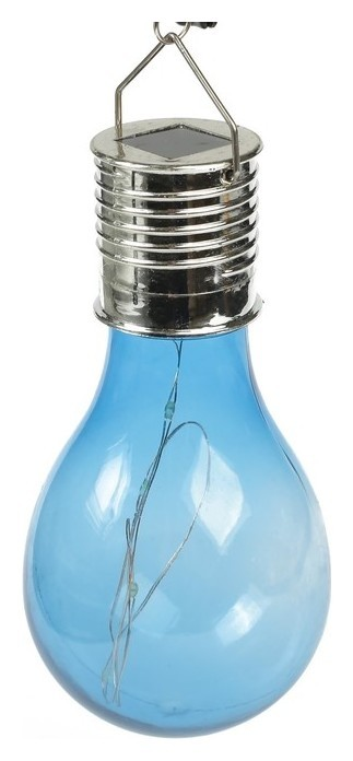 """Фонарь садовый на солнечной батарее """"Лампочка синяя"""", 5 Led, пластик, на прищепке  LuazON"""
