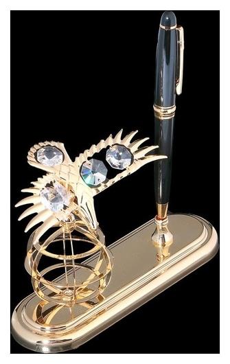 Ручка на подставке Орёл с кристаллами сваровски  Swarovski Elements