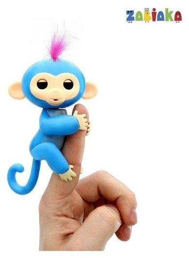 Интерактивная мартышка Lucky Monkey, издаёт звуки, крутит головой, закрывает глаза, реагирует на касания  Zabiaka