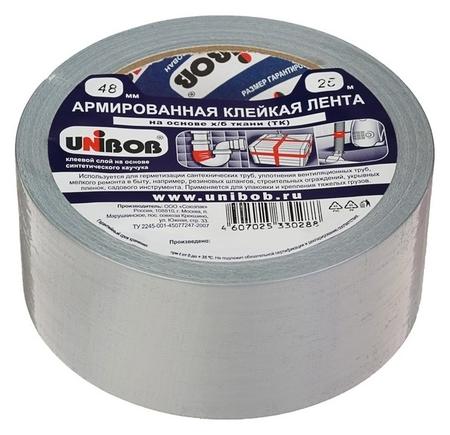 Клейкая лента Unibob армированная на ткани 48 мм х 25 м  Unibob