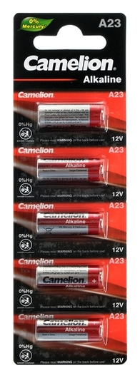Батарейка алкалиновая Camelion Mercury Free, A23 (Mn21, Lr23a, Lrv08)-5bl, 12в,блистер,5 шт.  Camelion