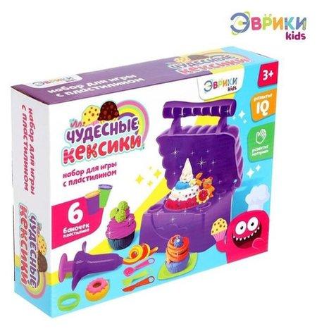 Набор для игры с пластилином «Чудесные кексики» Эврики