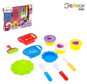 Набор для игры с пластилином «Шеф-повар», с тарелочками