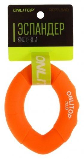 Эспандер кистевой 10 х 7 см, нагрузка 35 кг, цвет оранжевый  Onlitop