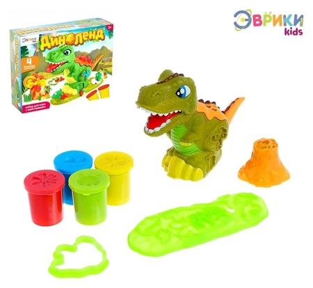Набор для игры с пластилином «Диноленд»  Эврики