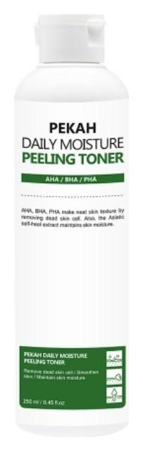 Тонер-пилинг для лица на основе спаржевой капусты Daily Moisture Peeling Toner  PEKAH