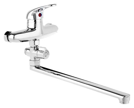Cмеситель для ванны Accoona A7060, однорычажный, излив 300 мм, с душевым набором, хром  Accoona