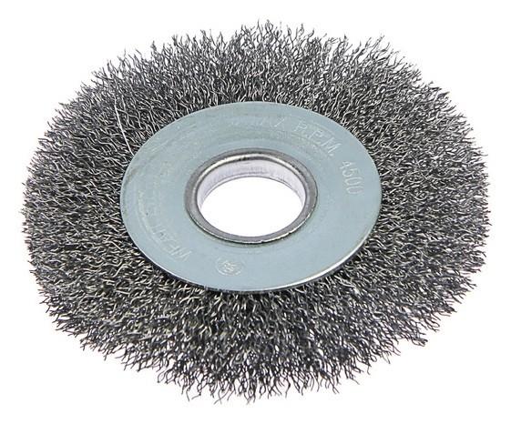 Щетка металлическая для УШМ Tundra, плоская, 22 мм, 100 мм  Tundra
