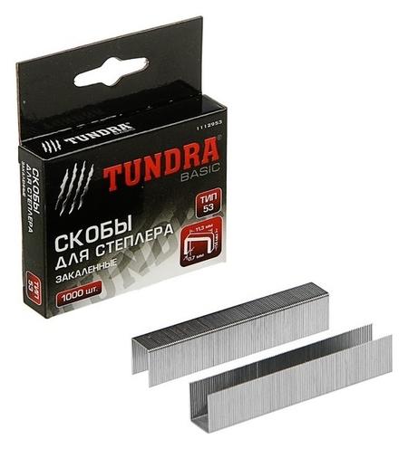 Скобы для степлера Tundra закалённые, тип 53, (11.3 х 0.7 мм), 14 мм (1000 шт.)  Tundra