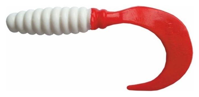 Твистер Helios Credo 6,0 см White & Red Hs-10-003 (Набор 7 шт) Helios