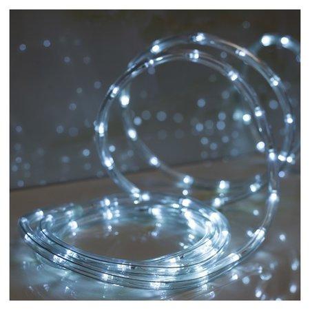 LED шнур 10 мм, круглый, 10 м, чейзинг, 2w-led/м-24-220v, с контр. 8р, белый  LuazON