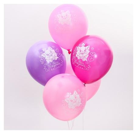 """Воздушные шары «С днем рождения», коты аристократы, 5 шт., 12""""  Disney"""