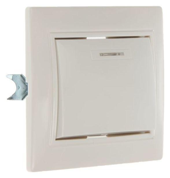 """Выключатель Smartbuy """"Венера"""", 10 А, 1 клавиша, скрытый, с индикатором, белый  Smartbuy"""
