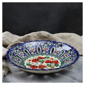 Фруктовница 33 см  Риштанская керамика