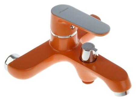 Смеситель для ванны Accoona A6366p, однорычажный, с шаровым переключателем, оранжевый  Accoona