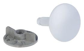 Заглушка отверстия умывальника под смеситель Masterprof, 50 мм, белая  MasterProf
