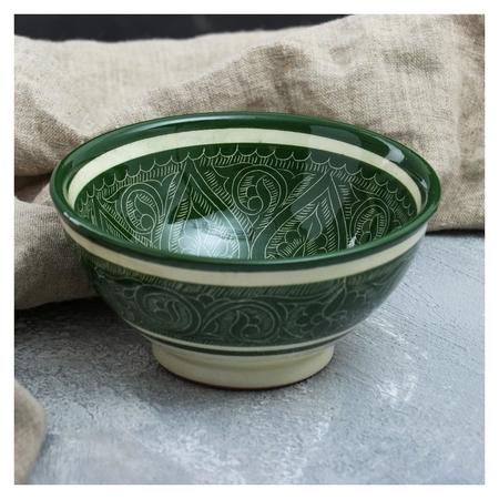 Коса малая 15см/0,5л зеленая  Риштанская керамика