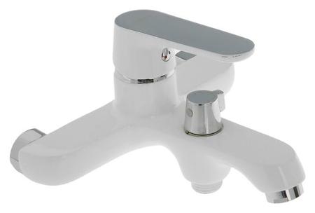 Cмеситель для ванны и душа Accoona A6366g, с душевым набором, силумин, цвет белый  Accoona