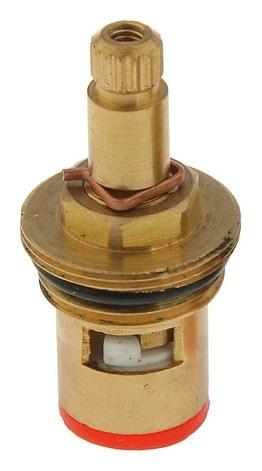 Кран-букса Accoona A450-2, керамика, 1/2, 15 шлицов, с резьбой Accoona