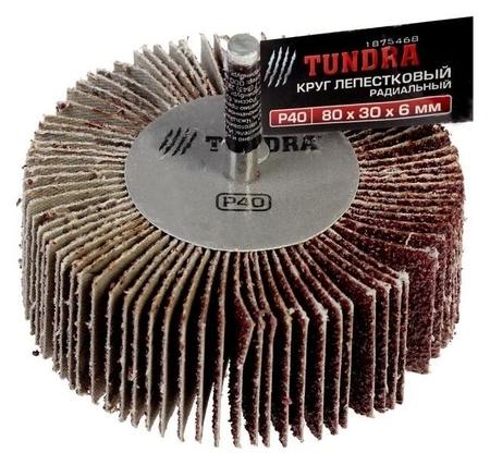 Круг лепестковый радиальный Tundra, 80 х 30 х 6 мм, Р40  Tundra