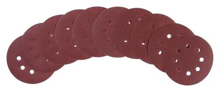 """Круг абразивный шлифовальный под """"Липучку"""" Tundra, перфорированный, 125 мм, р150, 10 шт.  Tundra"""