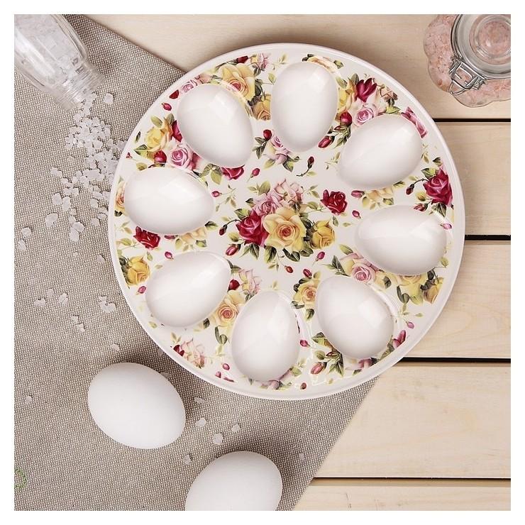 Подставка для яиц «Сад роз», 20×2 см  Доляна