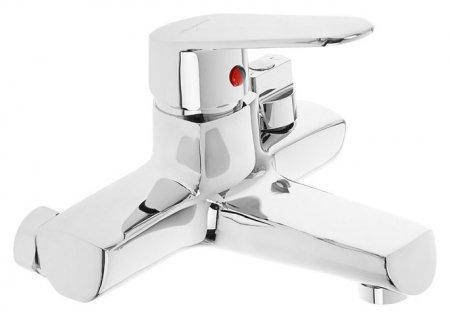 Cмеситель для ванны Accoona A6369, однорычажный, короткий излив, силумин, хром  Accoona