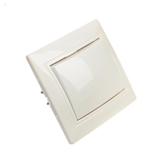 Выключатель Венера, 10 А, 1 клавиша, скрытый, белый  Smartbuy